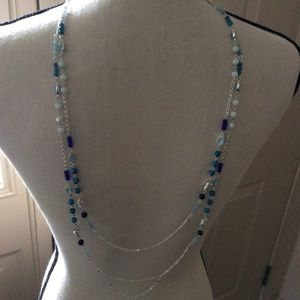 Multi Blues Bead Necklace